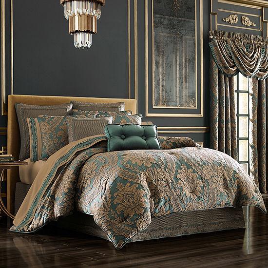 Queen Street Modesto 4-pc. Damask + Scroll Heavyweight Comforter Set