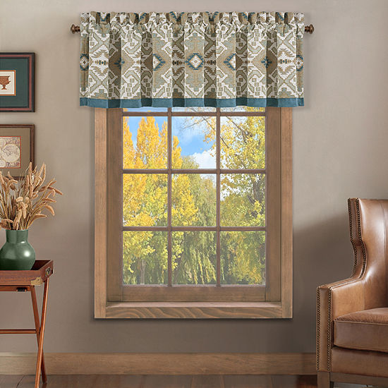 Queen Street Plainview Rod-Pocket Tailored Valance