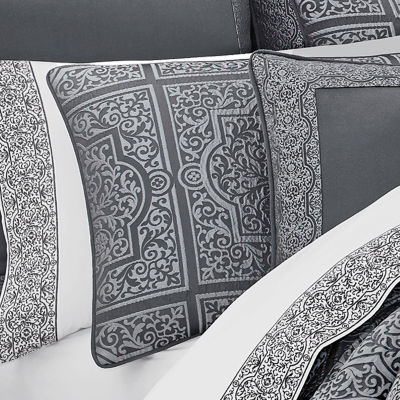 Queen Street Riddell 4-pc. Damask + Scroll Heavyweight Comforter Set