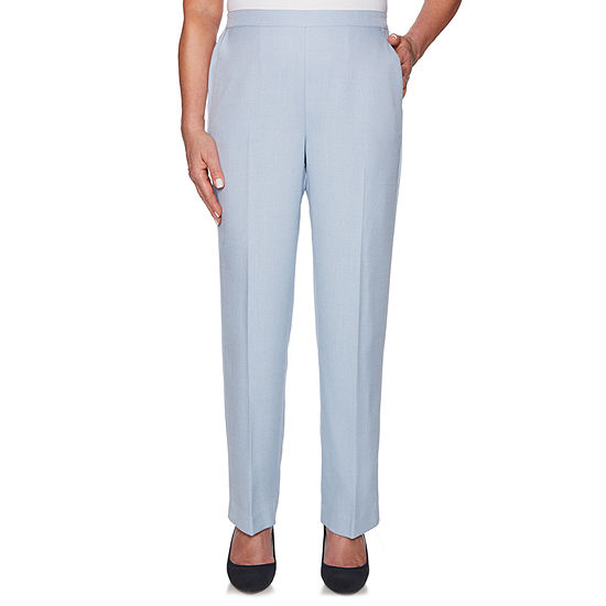 Alfred Dunner South Hampton Womens High Waisted Straight Pull-On Pants