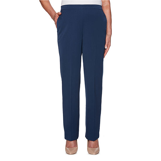 Alfred Dunner Cote D'Azure Womens Straight Pull-On Pants