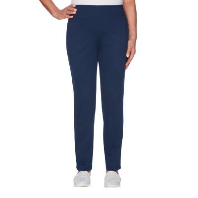 Alfred Dunner Cote D'Azure Womens High Waisted Straight Pull-On Pants
