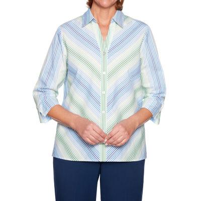 Alfred Dunner-Womens 3/4 Sleeve T-Shirt
