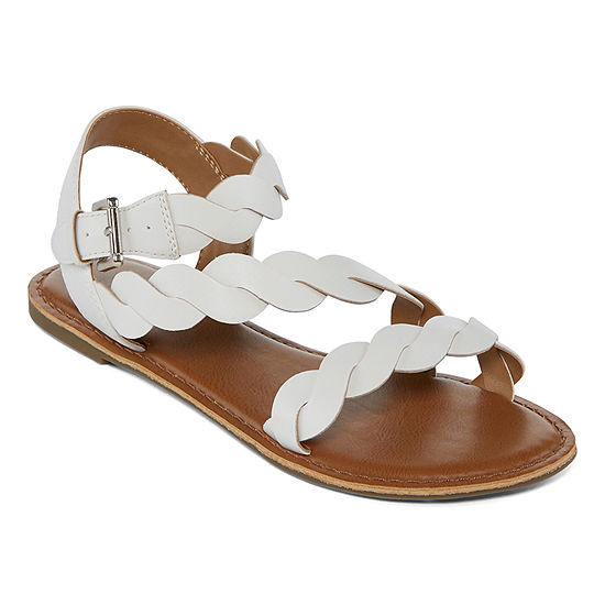 Arizona Womens Tundra Ankle Strap Flat Sandals