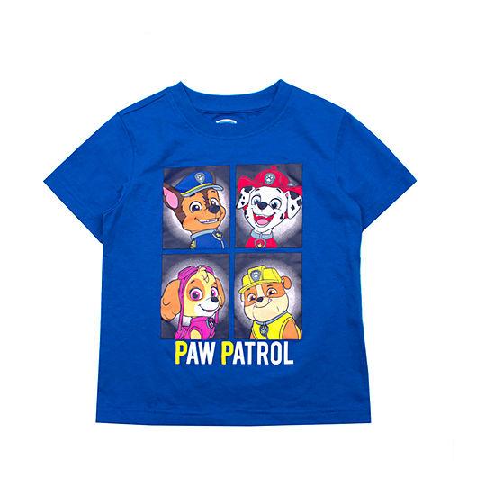 Boys Crew Neck Short Sleeve Paw Patrol T-Shirt-Toddler