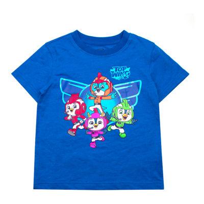 Nickelodeon Top Wing Boys Crew Neck Short Sleeve T-Shirt-Toddler