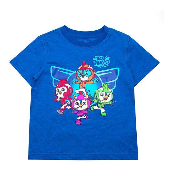 Nickelodeon Top Wing Boys Crew Neck Short Sleeve Graphic T-Shirt-Toddler