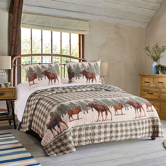 Greenland Home Fashions Moose Creek Reversible Quilt Set
