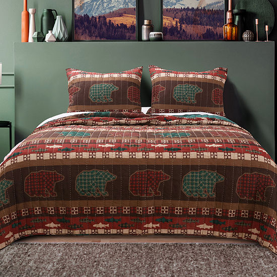 Greenland Home Fashions Canyon Creek Reversible Quilt Set