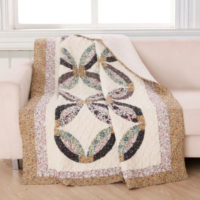 Greenland Home Fashions Sweet Caroline Reversible Midweight Throw