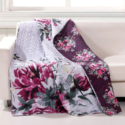 Greenland Home Fashions Rose Touch Reversible Midweight Throw