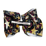 JoJo Siwa Black Bow With Unicorn And Star Print