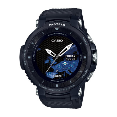 Casio Pro Trek Unisex Black Smart Watch-Wsd-F30-Bkaau