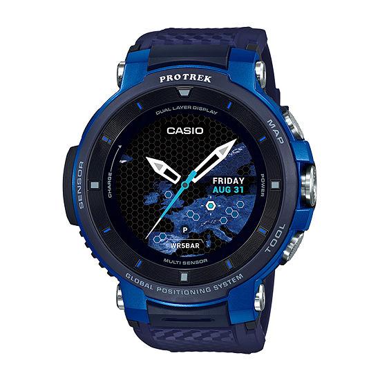 Casio Pro Trek Mens Blue Smart Watch-Wsd-F30-Bucau