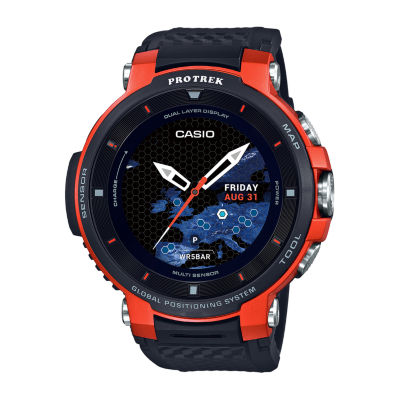 Casio Pro Trek Unisex Black Smart Watch-Wsd-F30-Rgbau