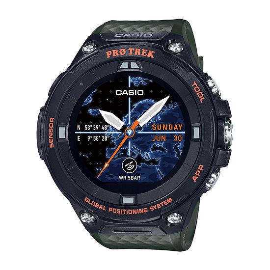 Casio Pro Trek Mens Green Smart Watch-Wsd-F20a-Gnbau