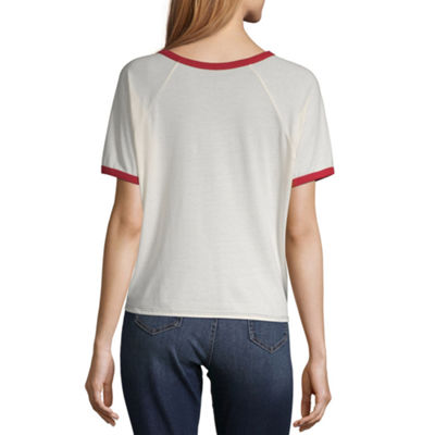 Womens Round Neck Short Sleeve T-Shirt Juniors
