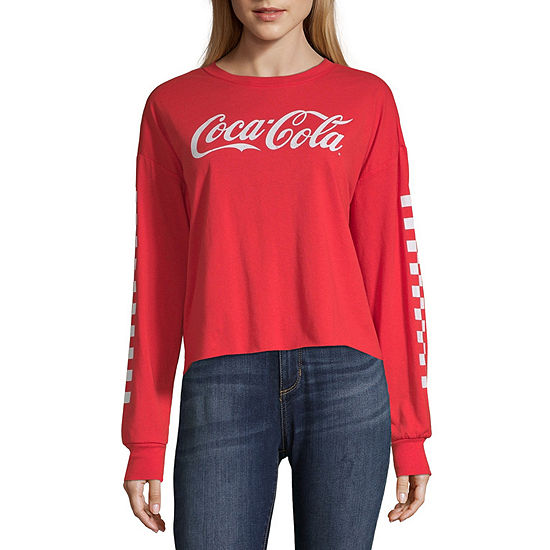 Womens Round Neck Long Sleeve T-Shirt Juniors