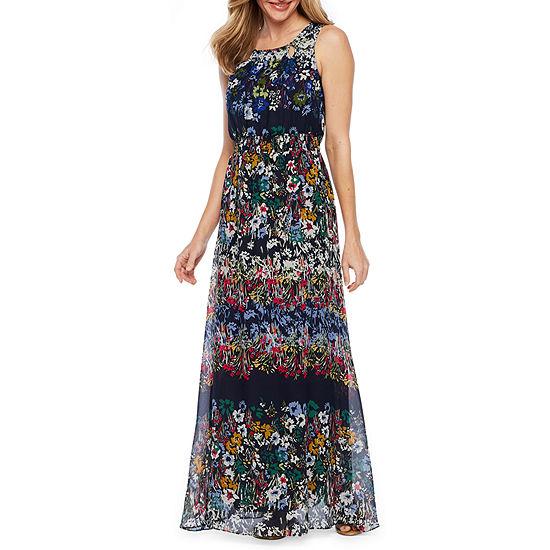 Danny Nicole Sleeveless Floral Maxi Dress