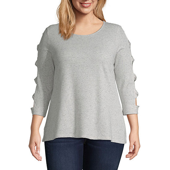 Twisted Cage Sleeve Top - Plus