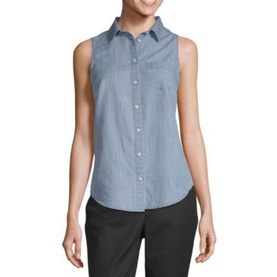 St. John's Bay Sleeveless Shirt - Tall