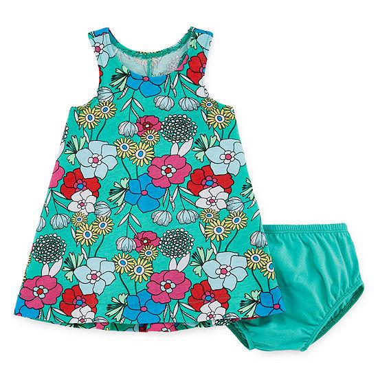 Okie Dokie Sleeveless Babydoll Dress - Baby Girls