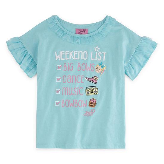 Jojo Siwa Crew Neck Short Sleeve Graphic T Shirt Big Kid Girls