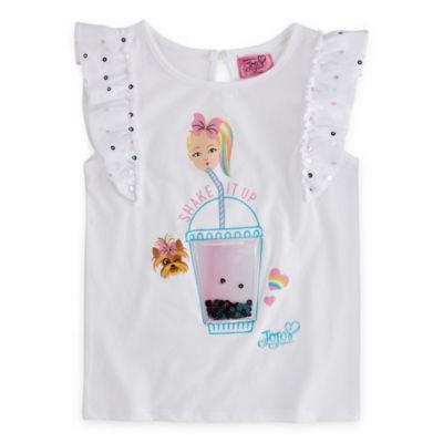 Jojo Siwa Girls Crew Neck Short Sleeve Graphic T-Shirt-Big Kid