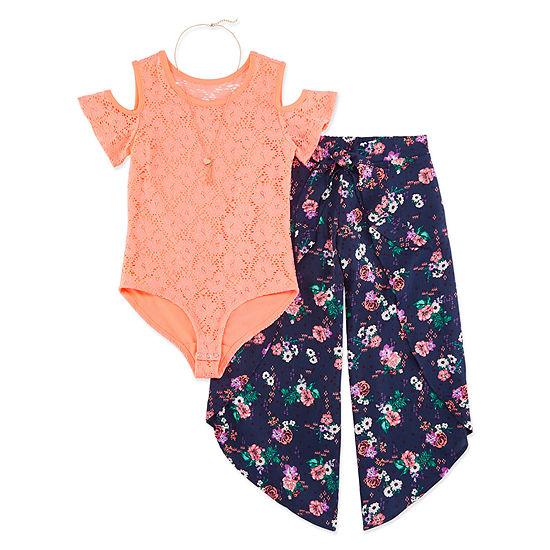 Self Esteem Girls 3-pc. Pant Set Preschool / Big Kid
