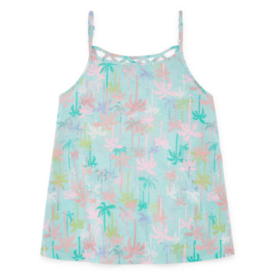Arizona Girls Lattice Back Tank Top
