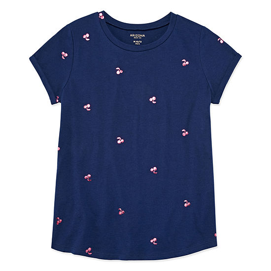 Arizona Girls Crew Neck Short Sleeve Graphic T-Shirt
