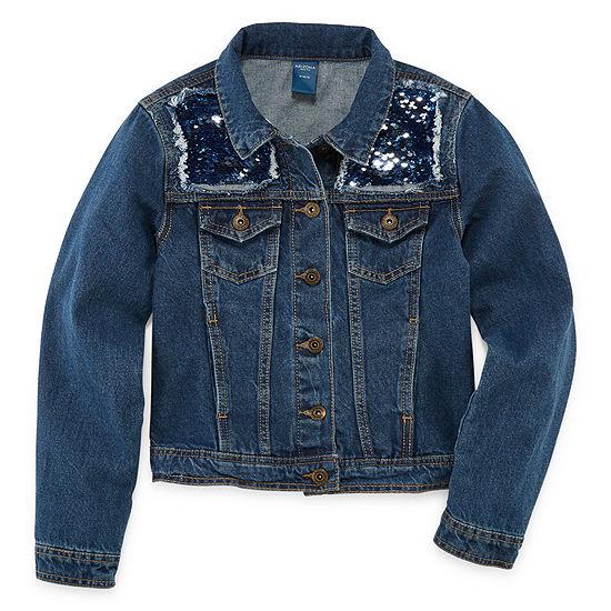 Arizona Sequin Denim Jacket - Girls' 4-16