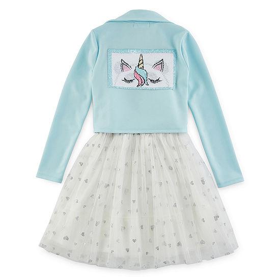 Knit Works Girls 2-pc. Jacket Dress Plus
