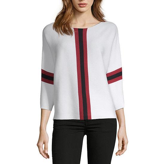 Say What Womens 3/4 Sleeve Sweater Juniors