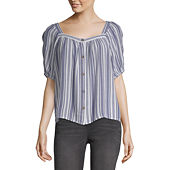 4433d182e8f7d a.n.a Womens Sweetheart Neck Short Sleeve Blouse