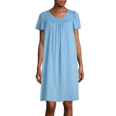Collette By Miss Elaine Womens Short Sleeve Nightgown