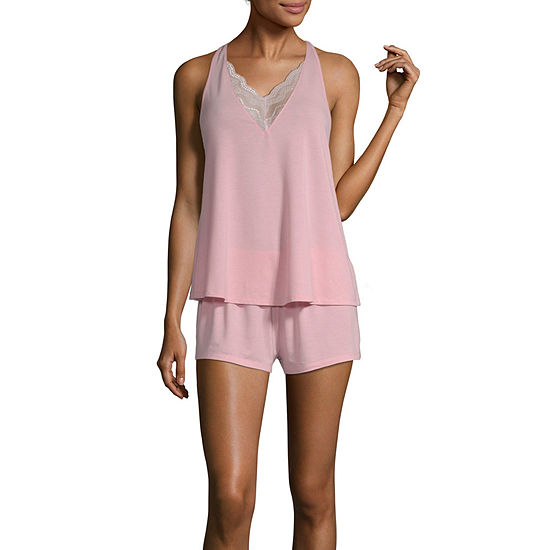 Flora By Flora Nikrooz Womens Shorts Pajama Set 2-pc. Sleeveless