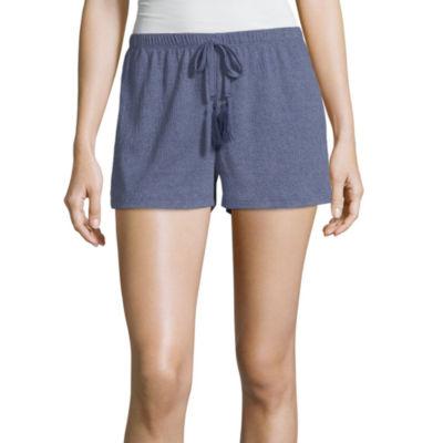 Laura Ashley Womens Knit Pajama Shorts