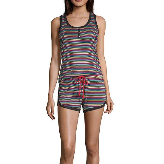 Pj Couture Womens Sleeveless 2-pc Shorts Pajama Set