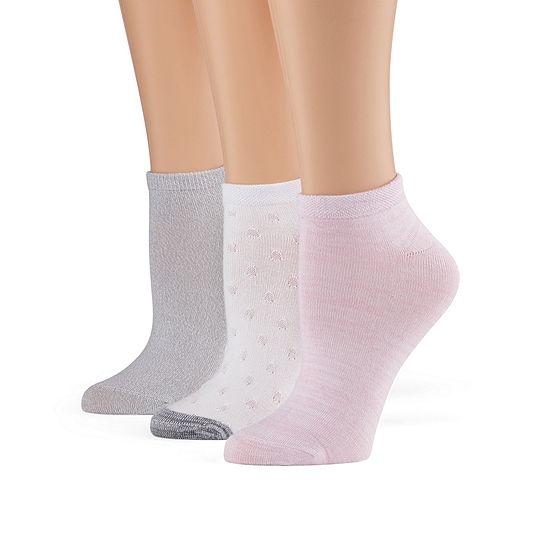 Cuddl Duds Leg Layering 3 Pair Low Cut Socks Womens