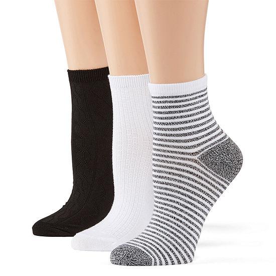 Cuddl Duds Leg Layering 3 Pair Low Cut Socks - Womens
