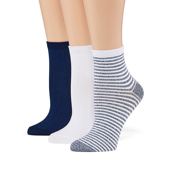 Cuddl Duds Leg Layering 3 Pair Quarter Socks - Womens