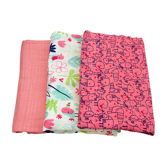 Mac And Moon 3-pc. Swaddle Blanket