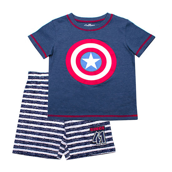 2-pc. Captain America Short Set Toddler Boys