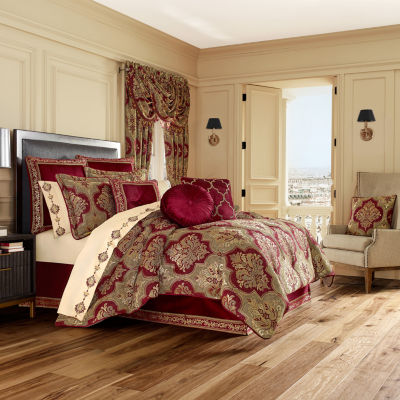 Queen Street Matilda 4-pc. Damask + Scroll Heavyweight Comforter Set