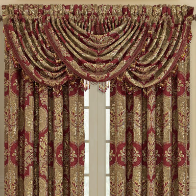 Queen Street Matilda Rod-Pocket Waterfall Valance