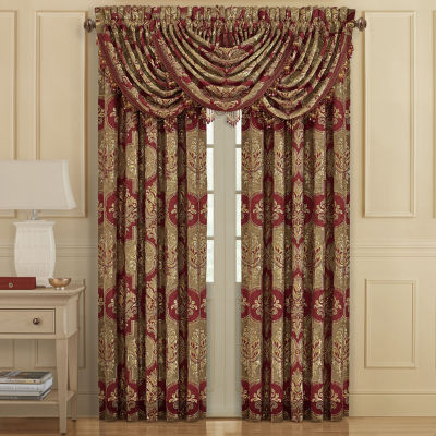 Queen Street Matilda Light-Filtering Rod-Pocket Set of 2 Curtain Panel