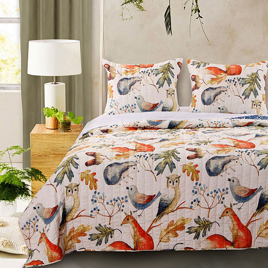 Barefoot Bungalow Willow Reversible Quilt Set