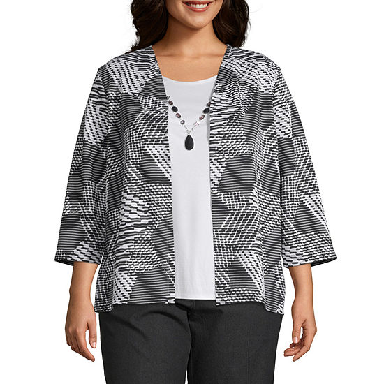 Alfred Dunner Grand Boulevard Layered Blouse - Plus
