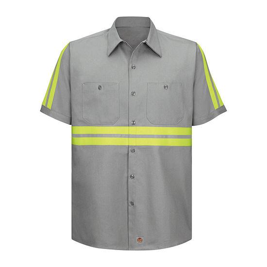 Red Kap® SC40 Short-Sleeve Enhanced Visibility Shirt - Big & Tall